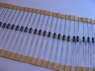 Lot Of 100 1000 Ohm 1k 14 Watt 1 Metal Film Resistor Dale-vishay Ccf-55 - Nos