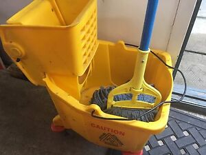 Mop ringer and bucket.