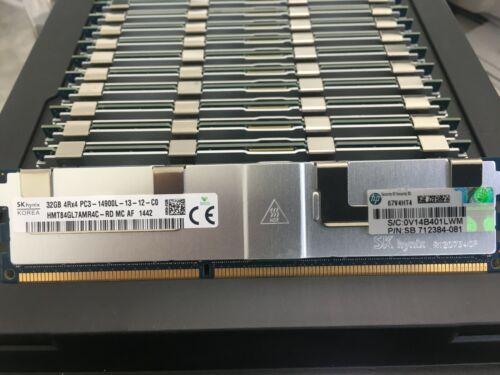 32GB DDR3 PC3-14900L 4Rx4 RAM Hynix HMT84GL7AMR4C-RD  HP  712384-081 SERVER