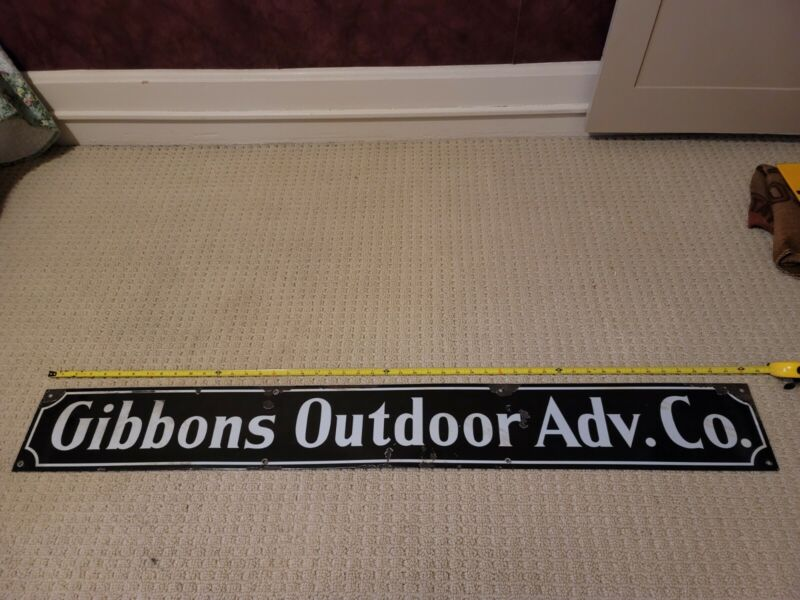 Vintage Gibbons Outdoor Adv. Co. Porcelain Advertising Sign 4ft Colorado Store