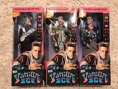 Vanilla Ice Doll Full Set of 3 - Lot - New Dolls in Box Original 1991 BEST OFFER