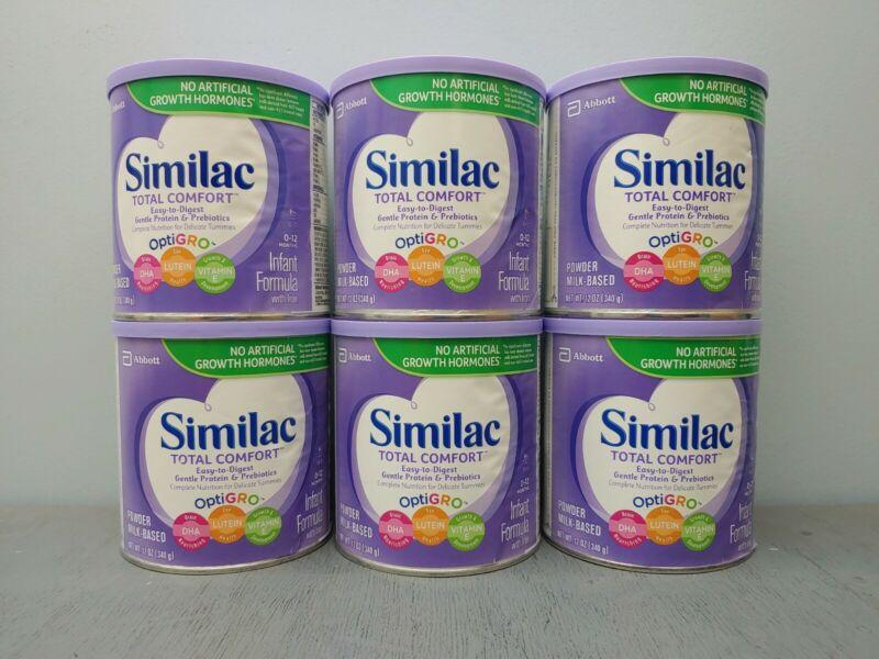 6 Similac Total Comfort Baby Infant Formula Powder Exp 2/2022 or Better 9C