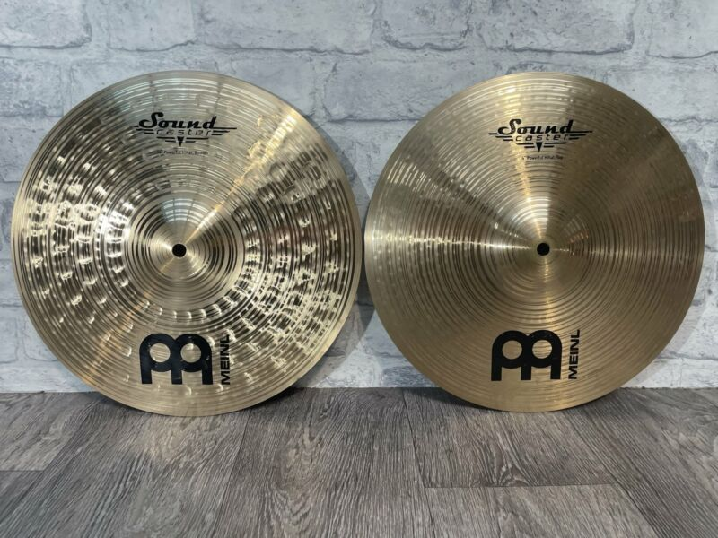 """Meinl Soundcaster Powerful Hi Hat Cymbals 14"""" (Pair)"""