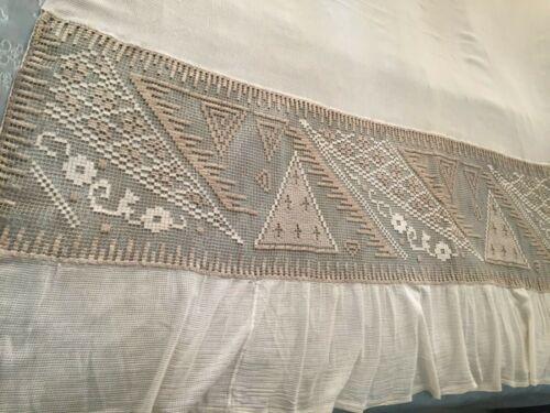 Beautiful Vintage Handmade Curtain