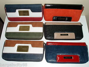 New-MILLENI-Ladies-L-Zip-Around-Leather-Clutch-Wallet-note-card-coin-iphone-case