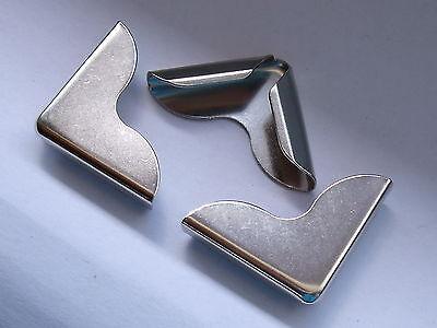20 Stück Buchecken Metallecken Ecken 25x25x4,5 mm vernickelt NEUWARE