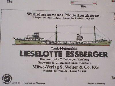 Lieselotte Essberger Wilhelmshavener Modellbaubogen Bastelbogen Kartonmodell