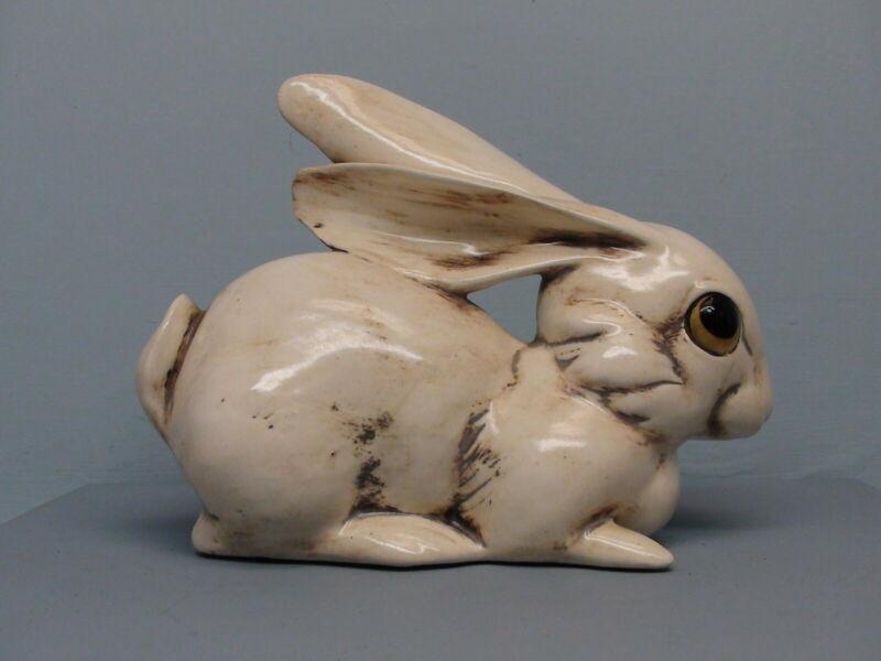 Old Freeman McFarlin Crouching Rabbit in Antique White