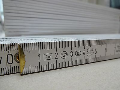 4m Zollstock 4 m weiß Holz,Maßstab Werbemittel 4 Meter Zollstöcke ohne Druck NEU