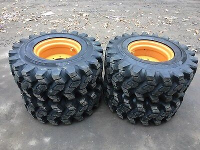 4 New Hd 14-17.5 Camso Sks753 Skid Steer Tirewheelsrims For Case-5032nd Tread