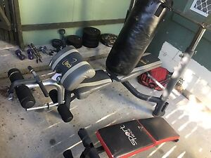 Gym set up wieghts boxing bag Inverell Inverell Area Preview