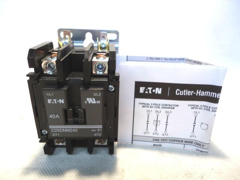 NEW EATON/CUTLER HAMMER C25DNM240 C25DNM240B 40AMP 208-240V COIL CONTACTOR