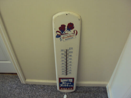 VINTAGE ADVERTISING BLUE RIBBON BAKERS THERMOMETER    S-361