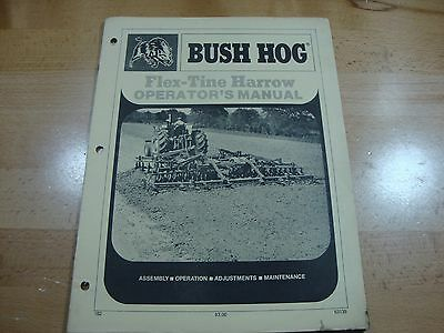 Bush Hog Flex Tine Harrow Operators Manual