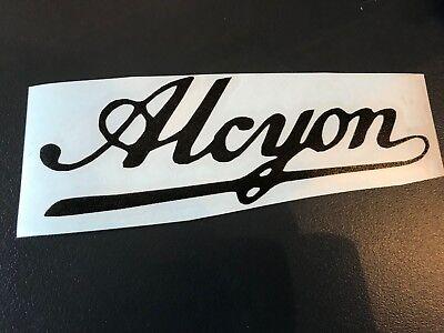 STICKER AUTOCOLLANT ALCYON MOTO ANCIENNE 15 CM MOBYLETTE