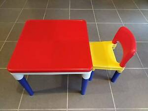 Kids Toy - Lego Builder Table with a chair and table cover Kellyville The Hills District Preview