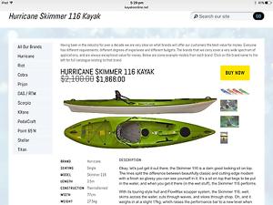 Hurricane Skimmer Lightweight Kayak Dudley Lake Macquarie Area Preview