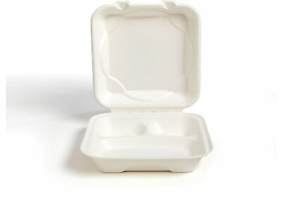 100psc Biodegradable Eco Friendly Take Out To Go Food Containers With Lids