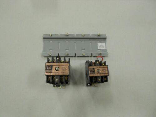 (2) General Electric CR120B Series Industrial Relays With Mounting Bracket