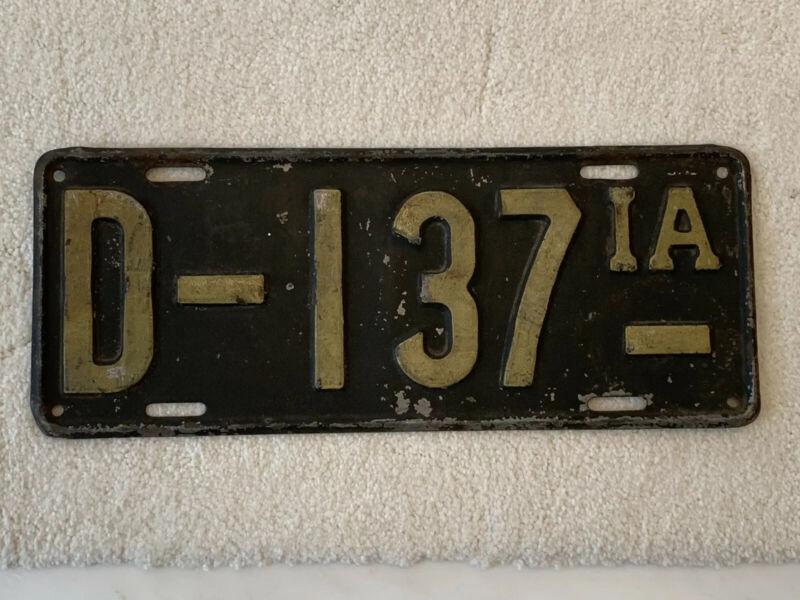 1916 Iowa Dealer License Plate-.original