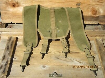 2R100%Ori WWII WW2 M1932 Suspenders Yokes First Aid kit Medic Bag Pouch USMC
