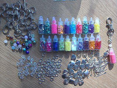 20 jewellery Making Kit keyring making kit bag charm making kit bottles wish nai