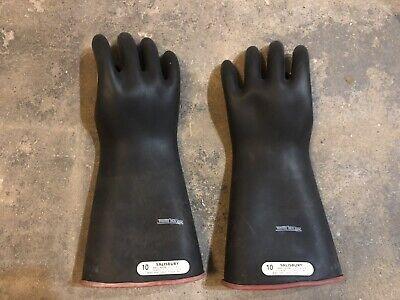 Salisbury Size 10 Rubber Linemans Gloves Type 1 Class 1 Max Use Volt 7500v D120