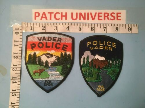 LOT OF 2 DIFFERENT  VADER WASHINGTON POLICE  SHOULDER  PATCHES E078
