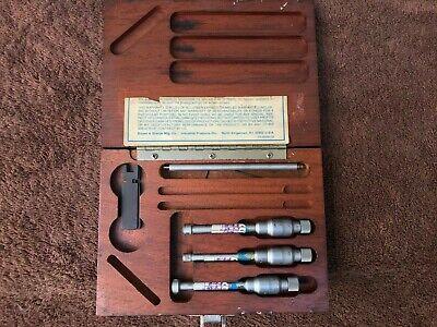 Brown Sharpe Set Holtest Intrimik Bore Hole Micrometer .0001