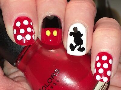 Disney Mickey Mouse Vinyl Nail Stickers   93 Per Sheet