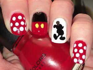 Disney Mickey Mouse Vinyl Nail Stickers - 93 Per Sheet!