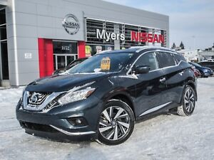 2017 Nissan Murano PLAT, AWD, NAVIGATION, LEATHER, MOONROOF, BAC