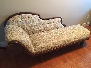 Antique Solid Wood Sofa Settee