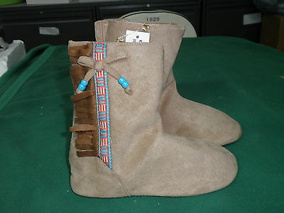 Disney STORE POCAHONTAS Costume Boots toddlers 7 new