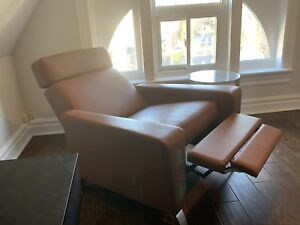 Gently used leather recliner