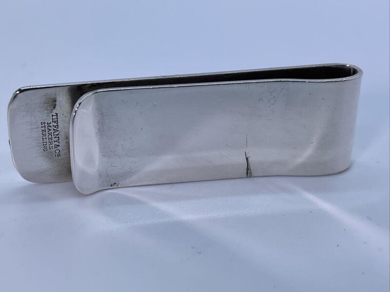 Vintage Authentic Tiffany & Co. Makers Sterling Silver Monogram Men's Money Clip