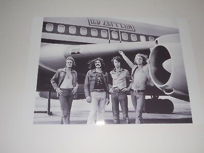 """Led Zeppelin with Plane Jimmy Page, Plant 1973 USA Tour Starship Poster 19""""x13"""""""