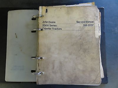 John Deere Sm-2037 Service Manual 2000 Series Crawler Tractors
