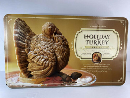 NWT Williams Sonoma 3-D Holiday Turkey Cake Mold by Nordic Ware NEW 10 Cups