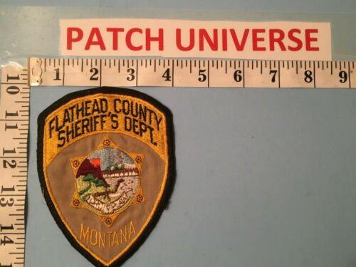 VINTAGE FLATHEAD COUNTY MONTANA  SHERIFF SHOULDER  PATCH  J020