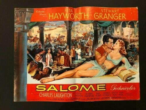 "Salome Original Movie Pressbook (Hayworth, 1953) - 16 Pages 16"" x 22"" VG+"