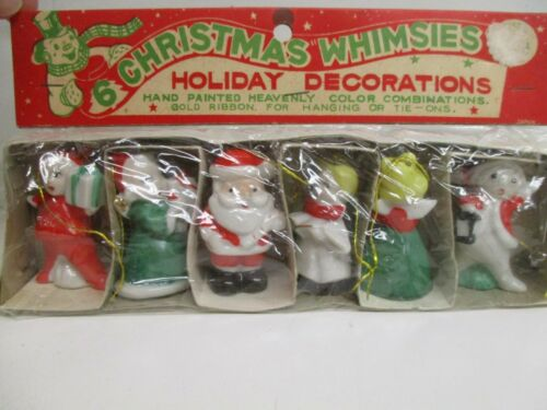 "Vintage porcelain Christmas Ornament SET 2"" ~Christmas Whimsies~ JAPAN SET OF"