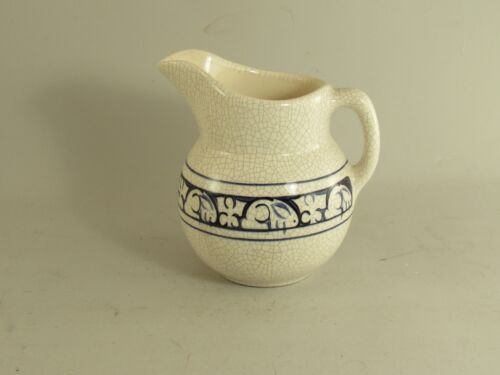 Dedham Pottery The Potting Shed Water Pitcher Rabbit Bunny Blue Pottery
