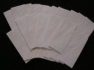 25 No. 10 Security Letter Envelopes Top Flight White 4.1x9.5 Tinted Paper Stic