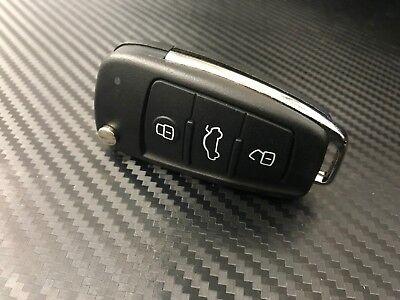 2Replacement 3btns Flip Remote Key Fob Shell Case Audi A2 A3 A4 A6 A6L A8 TT #Q6