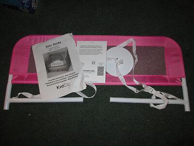 KIDCO Pink Convertible Crib Mesh Bed Rail Safety Railing Crib Baby Toddler NEW