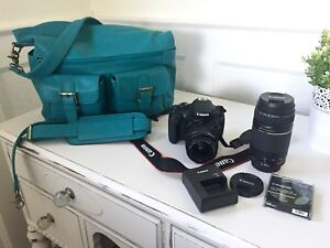 Canon EOS Rebel T5 Starter Kit with 2 lenses and Designer Bag