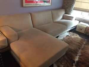 Large Beige Modern Sectional.