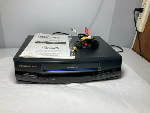 Panasonic (PV-8400) Blue Line 4Head OmniVision VHS VCR W/ Auto Clock WORKS GREAT