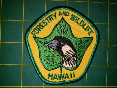 STATE OF HAWAII SHERIFF POLICE PATCH FORESTRY WILDLIFE DNR GAME WARDEN PARK HI